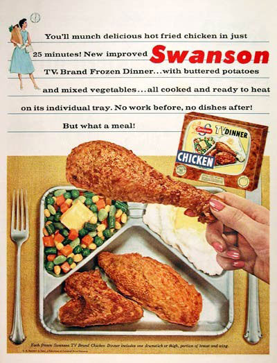 1956 Swanson TV Dinner Advertisement