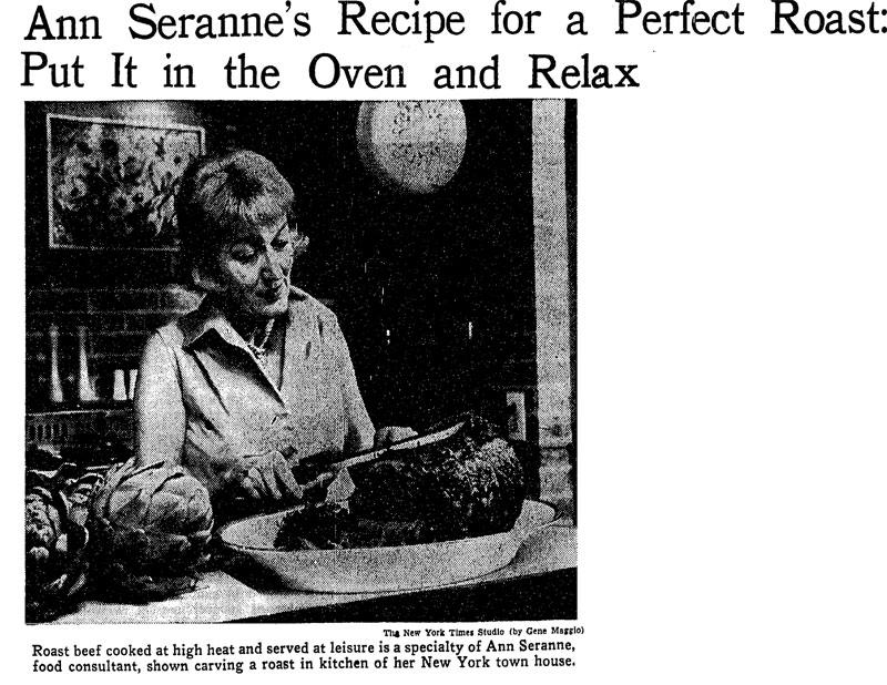 Ann Seranne Roast Beef Recipe