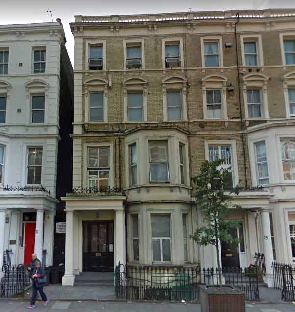 73 Warwick Road, Kensington. De Salis house