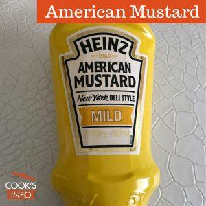 American mustard bottle