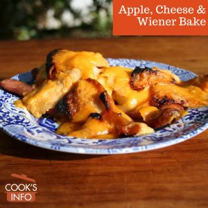 Apple, Cheese & Wiener Bake