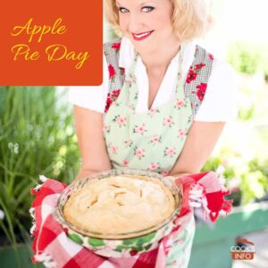Woman with apple pie