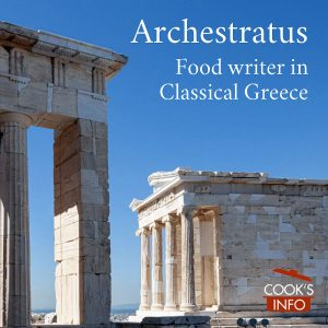 Archestratus: food writer in classical Greece