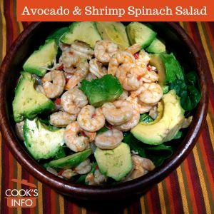 Avocado & Shrimp Spinach Salad