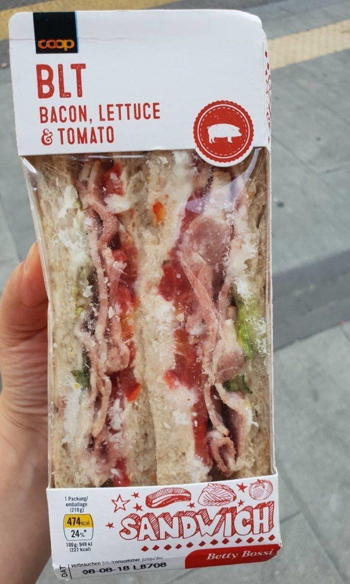 Packaged BLT sandwich