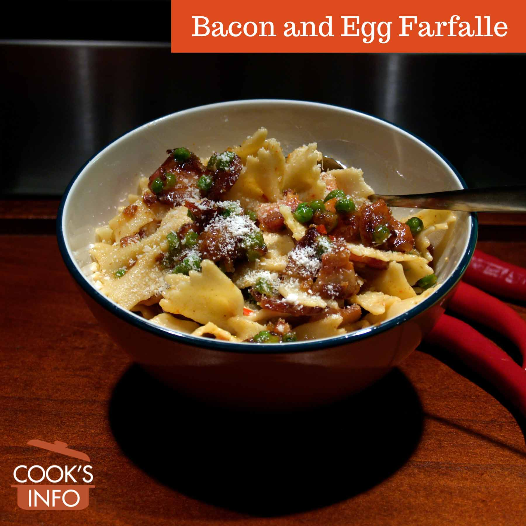 Bacon and Egg Farfalle
