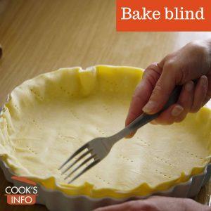 Bake blind