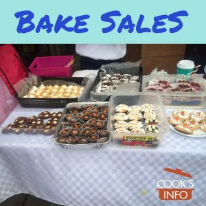 Photo of a table with baked goods for sale on it