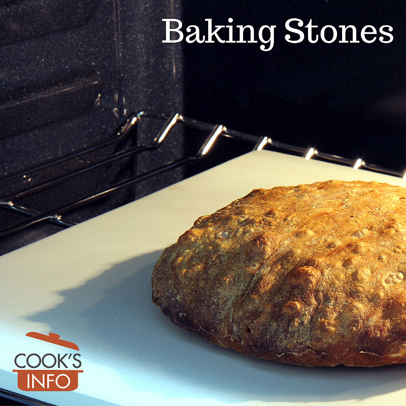 Bread baked on a baking stone