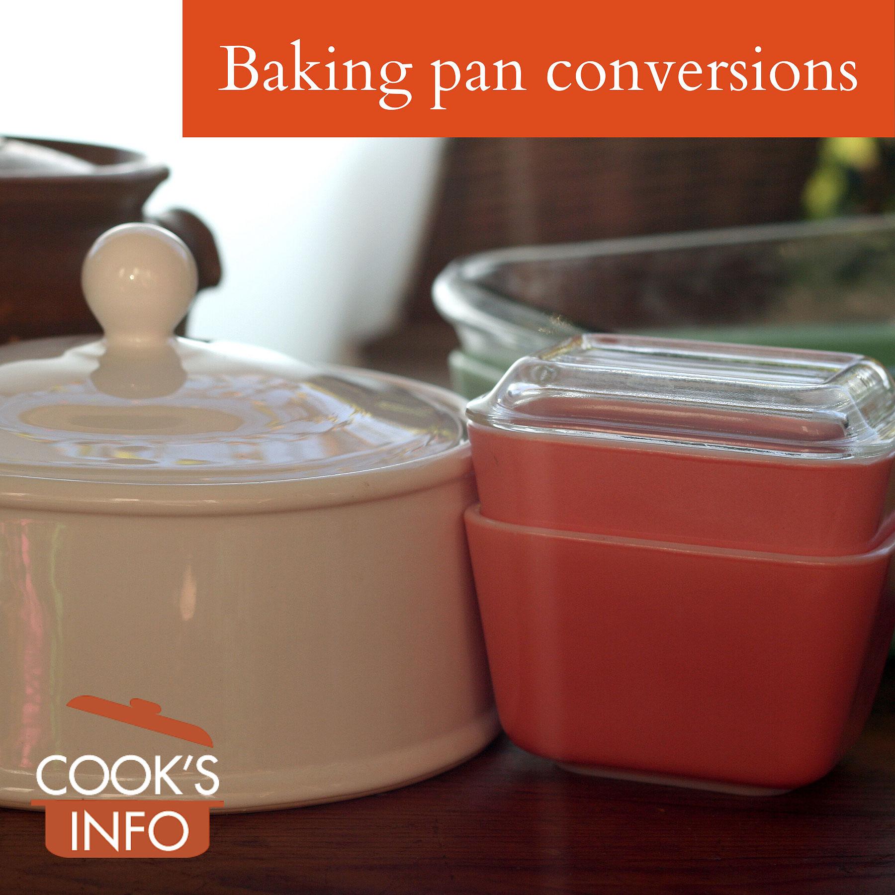 Baking pan conversions.
