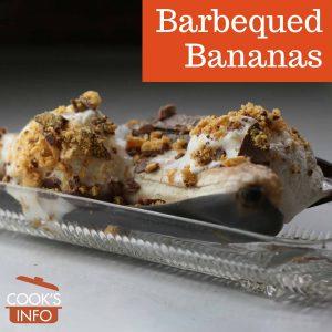 Barbequed bananas
