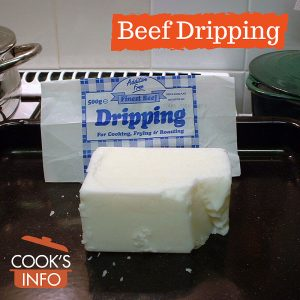 Beef dripping block