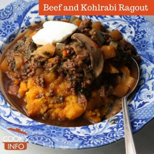 Beef and Kohlrabi Ragout