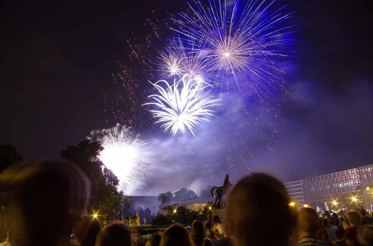 Fireworks on Belgian National Day