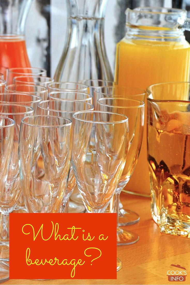 Beverages display