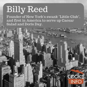 Billy Reed: New York Restaurateur to Broadway, Owner of The Little Club