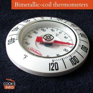 Bimetallic coil thermometer