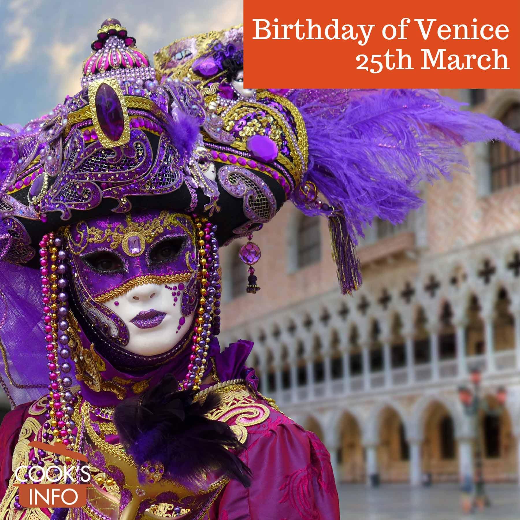 Costumed reveller in Venice