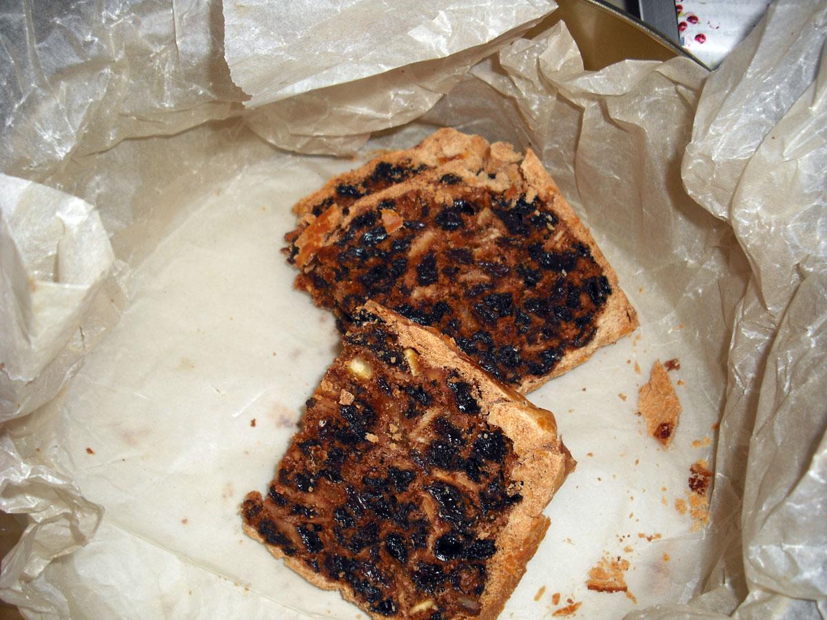 Slices of black bun