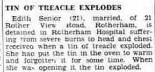Tin of treacle explodes