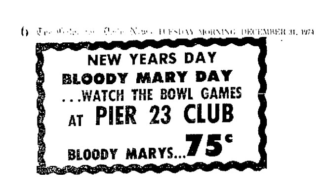 Bloody Mary Day 1974