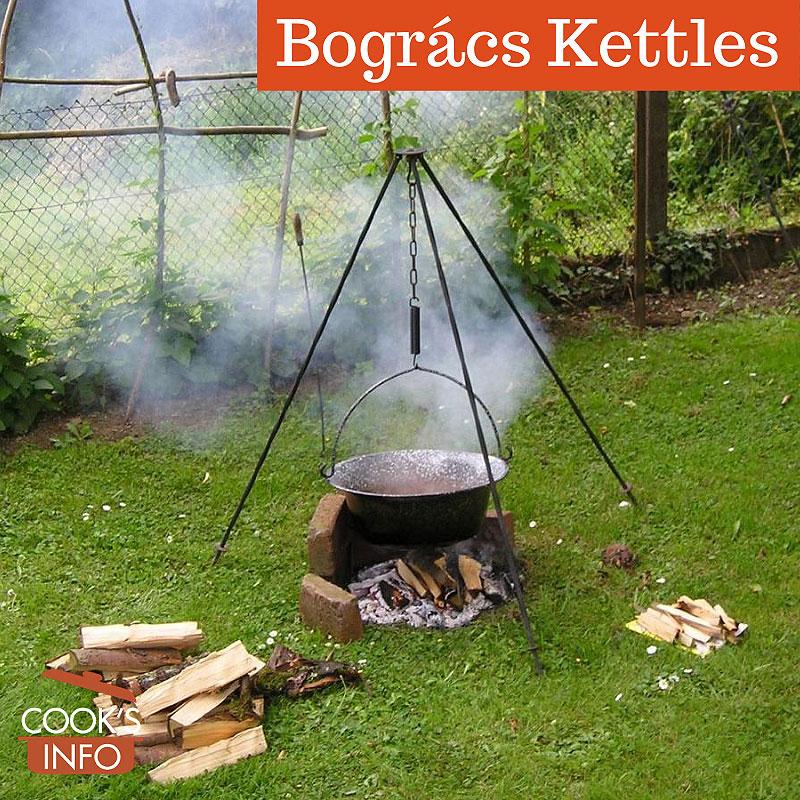 Bogrács Kettle suspended on tripod