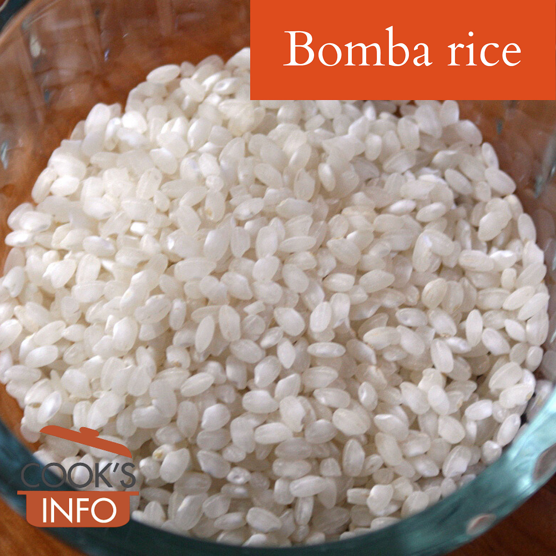 Bomba rice, dried