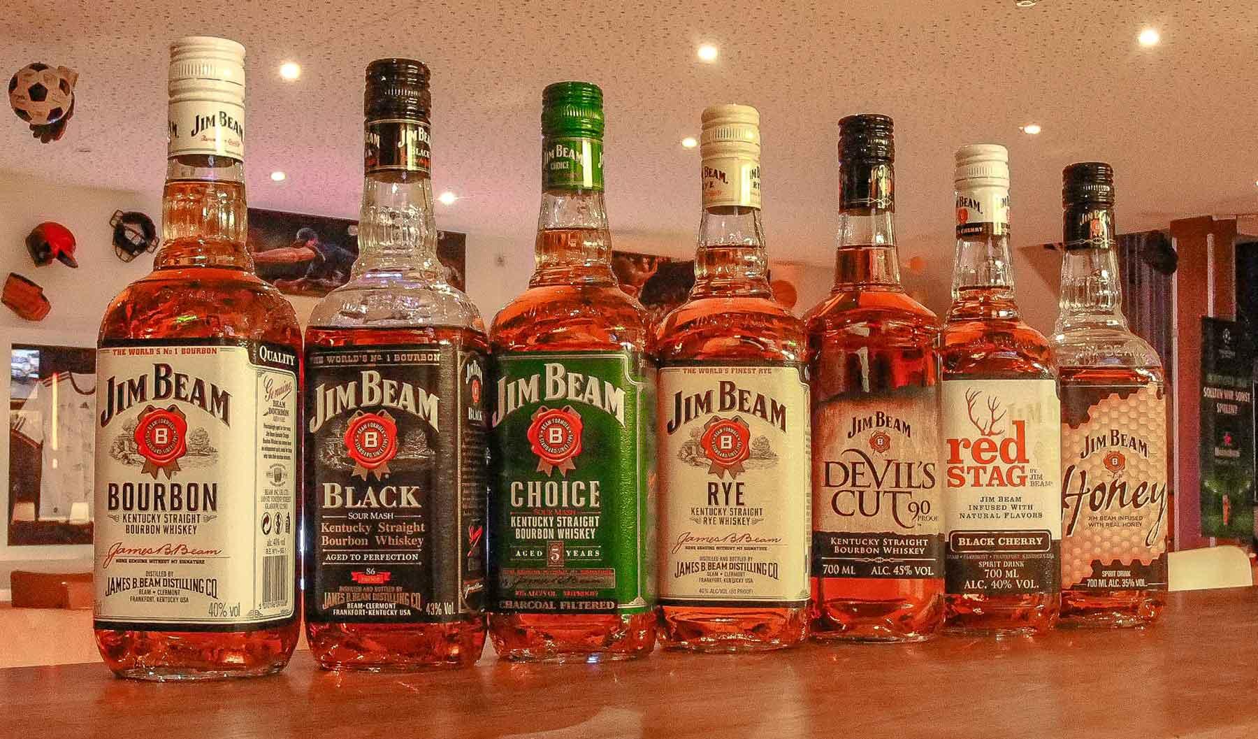 Jim Beam bourbon varieties