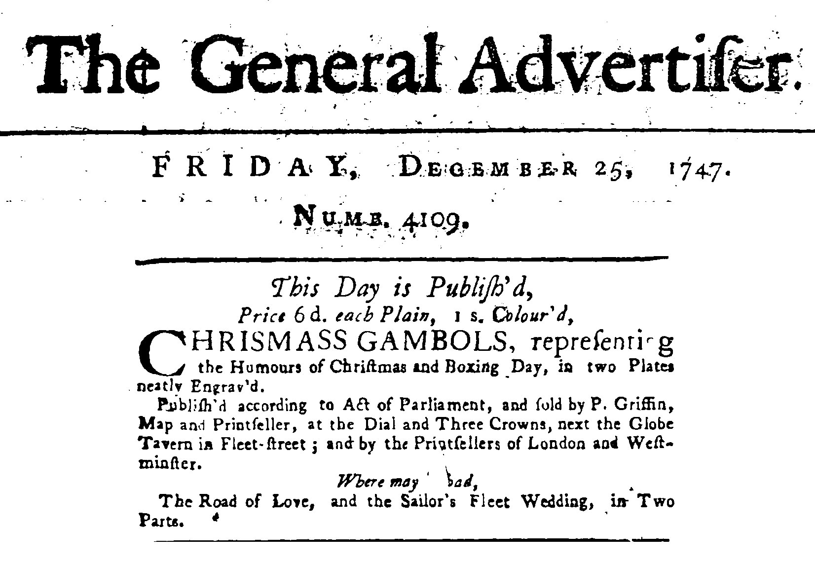 Boxing Day Ad 1747