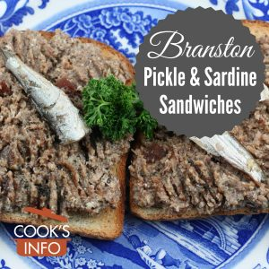 Branston Pickle and Sardine Sandwiches
