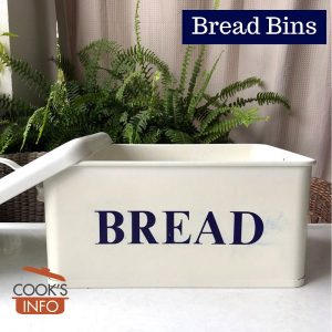 Enamelled metal bread bin