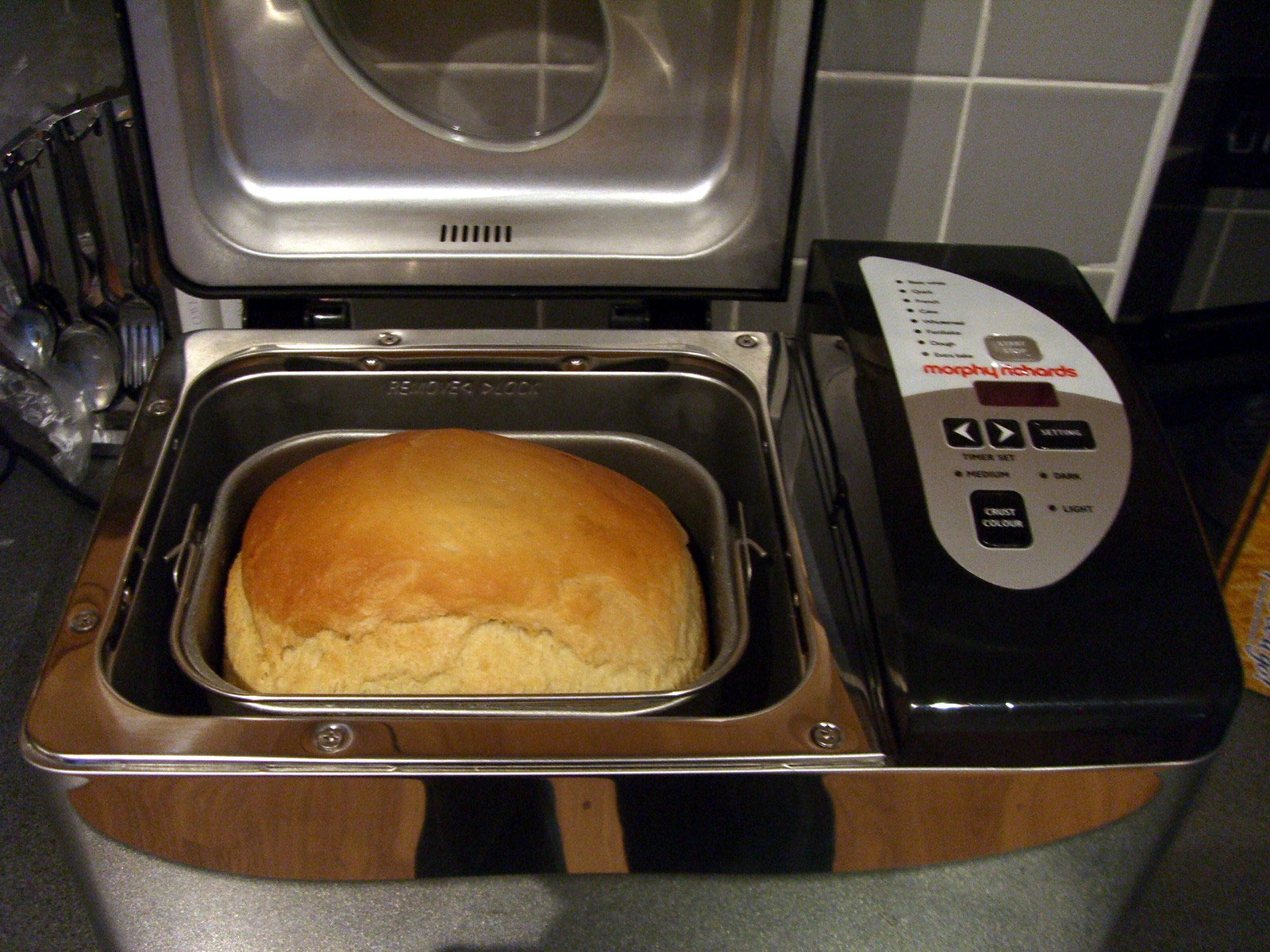 Typical shape of bread baked in bread machine