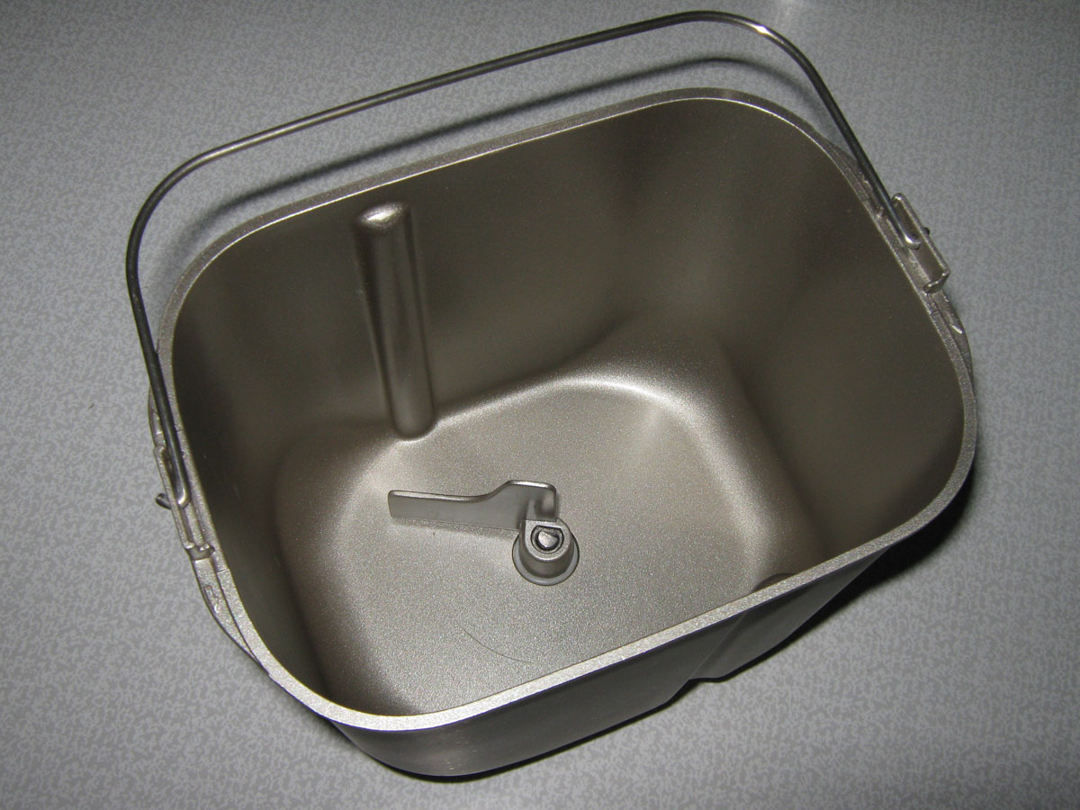 A typical bread machine pan