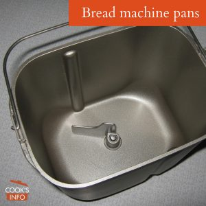 Bread machine pans