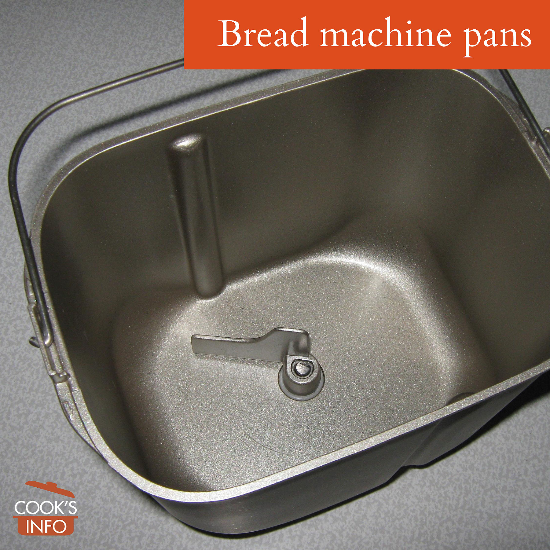 Bread machine pan