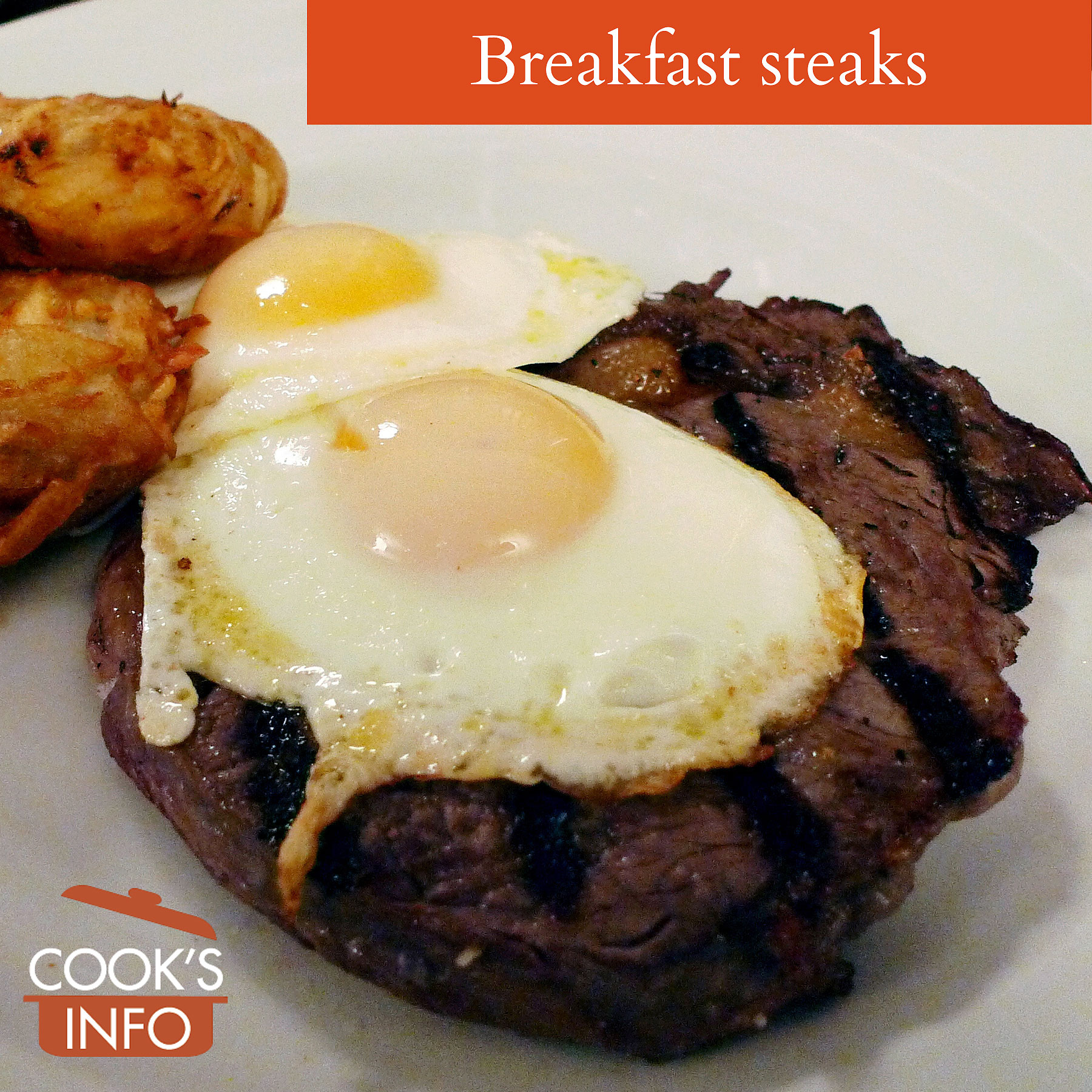 Breakfast steak with egg