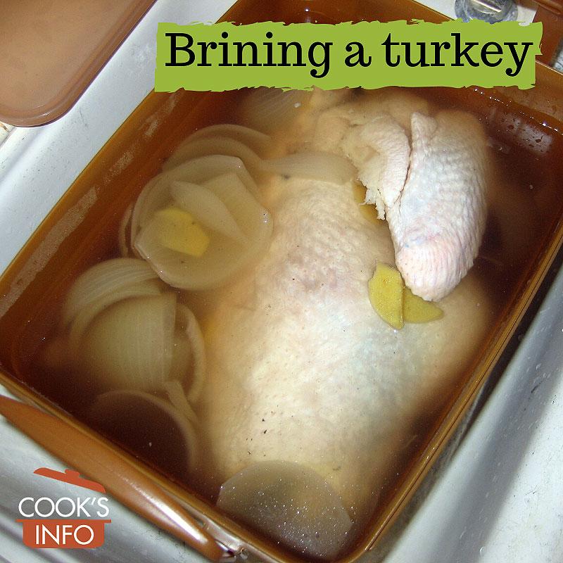 Brining a turkey