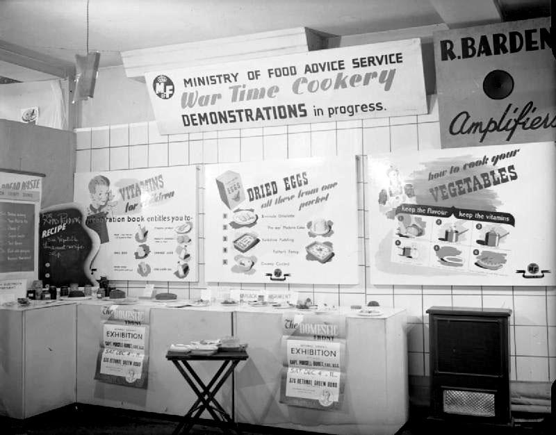 Ministry of Food advice exhibiton, London, 1943.