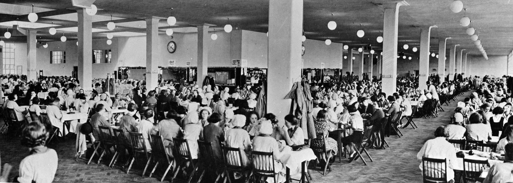 Factory canteen, 1943