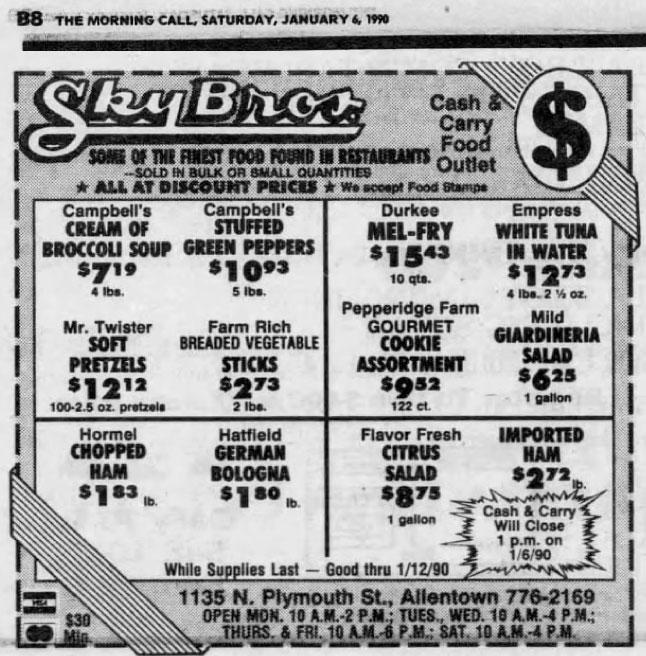 6 January 1990 advertisement cream of broccoli soup