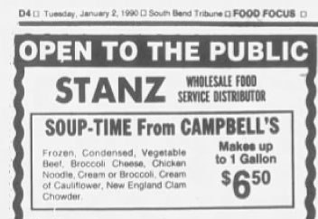 2 January 1990 advertisement cream of broccoli soup
