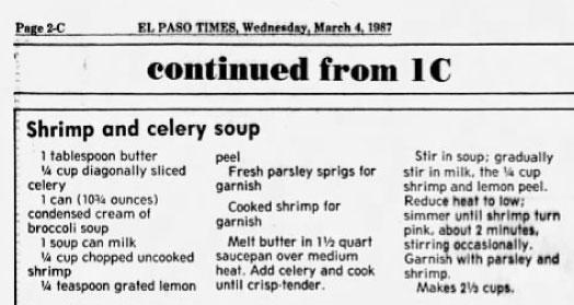 1987 recipe calling for condensed cream of broccoli soup
