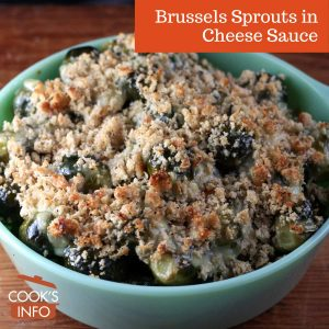 Brussels Sprouts in Cheese Sauce