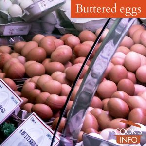 Buttered eggs for sale in the English Market, Cork