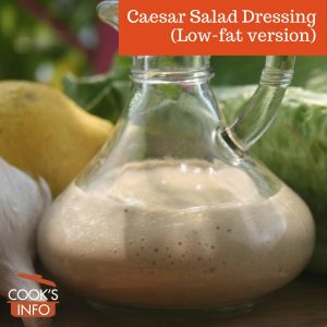 Caesar salad dressing (low-fat)