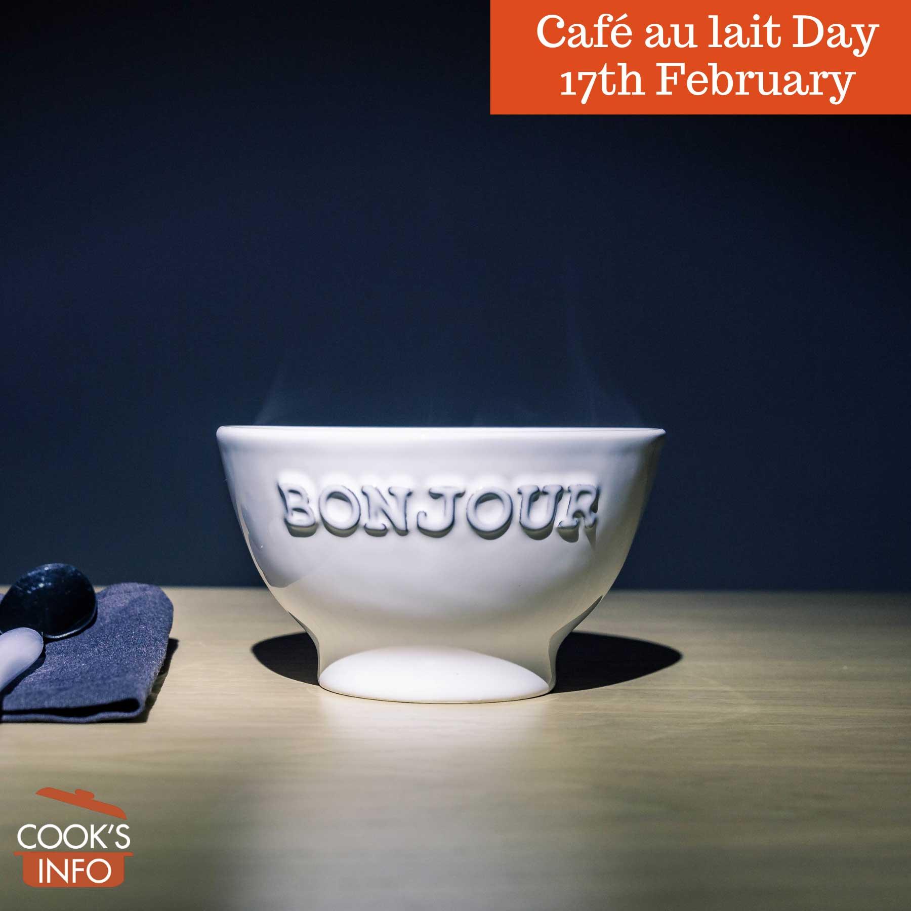 Bowl of café au lait