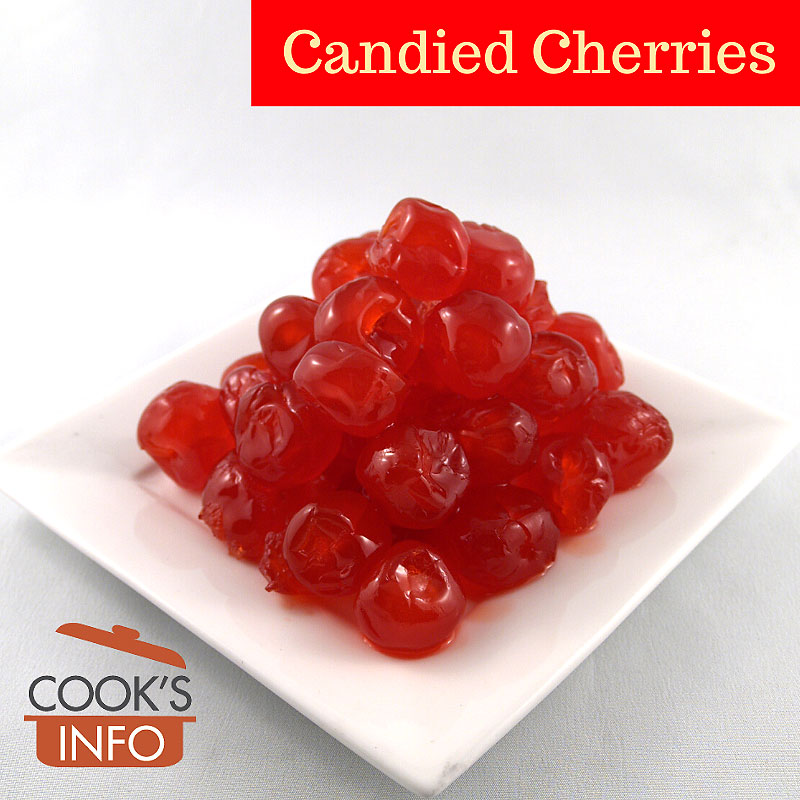 Red candied cherries