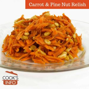 Carrot & Pine Nut Relish