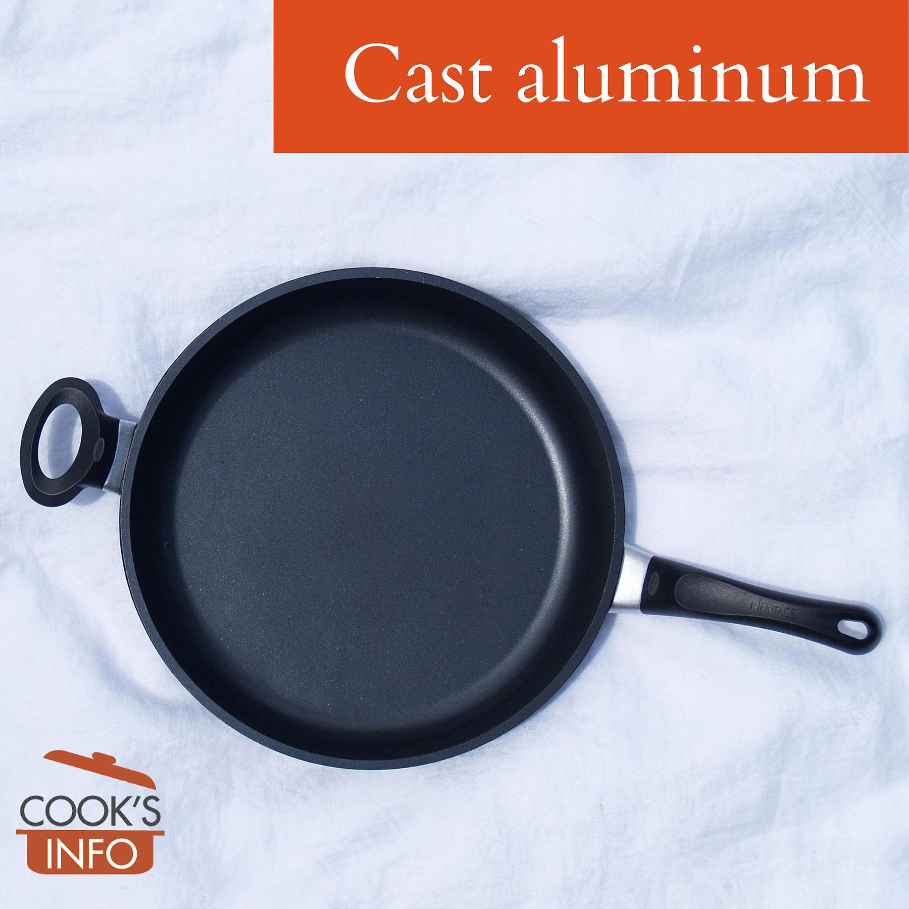 Cast aluminum pan