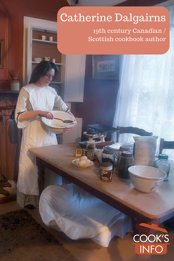 Woman in 19th century kitchen.